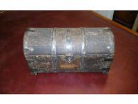 Small old treasure chest