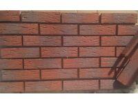 Brick slips/tiles. dim 240x65x17mm Red Sanded. Colour 335-RF.