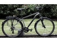 Specialized Crosstrail Hybred with Front Suspension and Topeak rack
