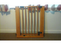 2X Summer Infant Sure and Secure Deluxe Wood Pressure Gate (Model 07051) with two extensions.