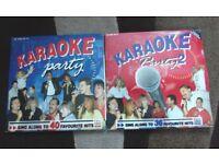 2 KARAOKE VINYL LP RECORDS. WITH LYRICS. EXCELLENT CONDITION.