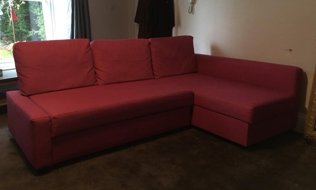 IKEA Corner Sofa Bed   Limited Edition in Pink   in ...