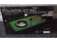 ROULETTE WHEEL TABLE TOP GAME *BRAND NEW IN BOX* FAMILY FUN/CHRISTMAS PRESENT