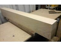 Ash wooden lintel for stoves or coal fire