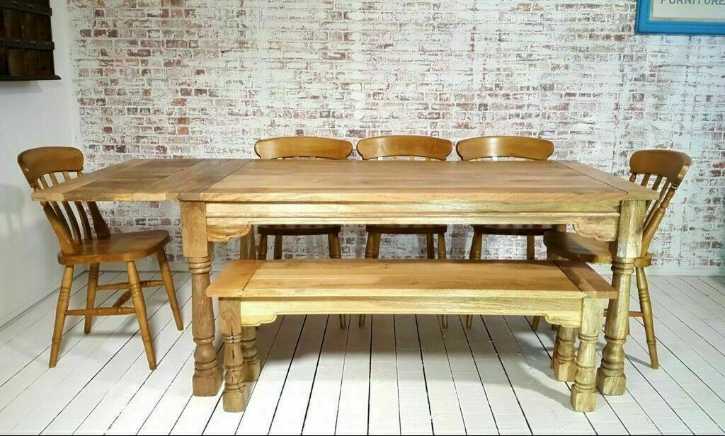 Awesome Extending Farmhouse Rustic Dining Kitchen Table Set With Antique Style Chairs Bench Space Saving In Haymarket Edinburgh Gumtree Alphanode Cool Chair Designs And Ideas Alphanodeonline