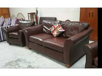 Marks & spencer leather 3 piece suite can deliver 07808222995
