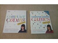 Computer Coding and Computer Coding Games for kids BRAND NEW BOOKS