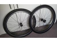 "26"" single speed bike wheels with tyres for bicycle or mountain bike"
