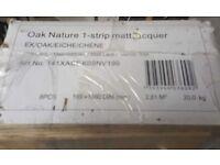 Engineered Natural Oak Flooring. Matt Lacquer finish: coverage 2.81 sqm. 14 x 189 x 1860mm.