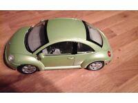 Volkswagen model beetle - as new - green- excellent condition