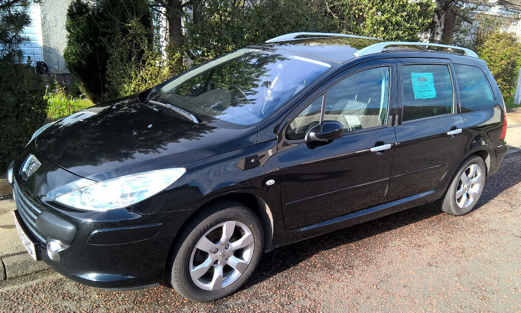for sale black peugeot 307 sw se semi automatic estate. Black Bedroom Furniture Sets. Home Design Ideas