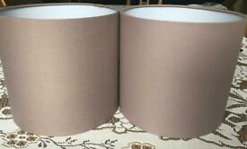 2 x taupe light shades