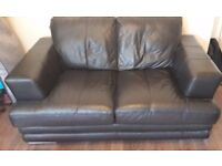 2X REAL GENUINE DFS LEATHER SOFAS