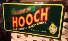 EXTREMELY RARE LARGE ORIGINAL HOOCH DRINKS SIGN MEMORABILIA - £55 ONO
