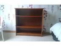 Teak bookcase with 3 shelves. Suitable for office, lounge or bedroom, good condition.