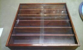 Wooden wall display cabinet