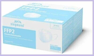 20 Stück (1 Box) Atemschutzmaske, MUNDSCHUTZ FFP2, JIFA Siegmund