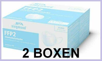 40 Stück (2 Boxen) Atemschutzmaske, MUNDSCHUTZ FFP2, JIFA Siegmund