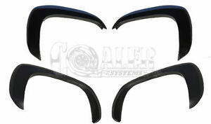 Chevy Silverado Fender Flares Set of 4 Paintable Matte Black OE Style for 99-06