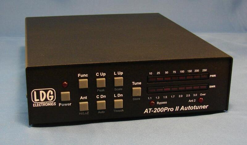 LDG ELECTRONICS AT200PROII 5 to 250Watt DESKTOP MEMORY TUNER