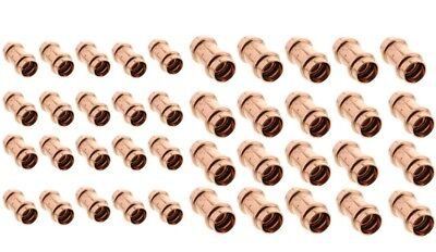 40 Units 1-12 2 Propress Copper Slip Couplings - No-stop Press Fittings
