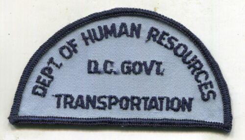 Washington D.C. Government Department of Human Resources Transportation Patch DC
