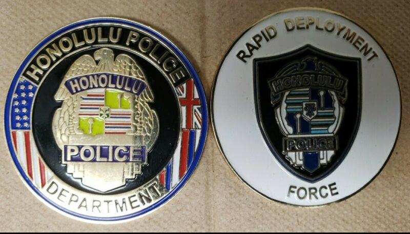 HPD Honolulu Police Department Challenge coin Rapid Deployment Force  RDF.