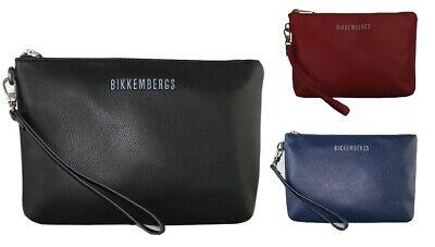 Pochette uomo piatta Bikkemebergs borsello con manichetto H17x25Lx2,5W
