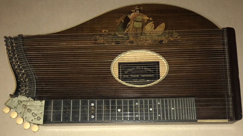 ANTIQUE Collectible CONCERT ZITHER Hartmann Bros.& Reinhard 19th Century