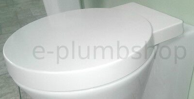 TC Metro Round Wrap Over Lid Close Coupled Back To Wall Hung Toilet Soft Seat