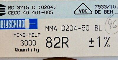 1000pcs Resistor Smd 82 Ohm Minimelf 50ppm 1 0.4w Mma020450bl 82r Beyschlag