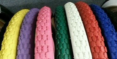 TWO(2)DURO BEACH CRUISER BICYCLE TIRES 26X2.125 KNOBBY/STUDDED PATTERN PIC COLOR