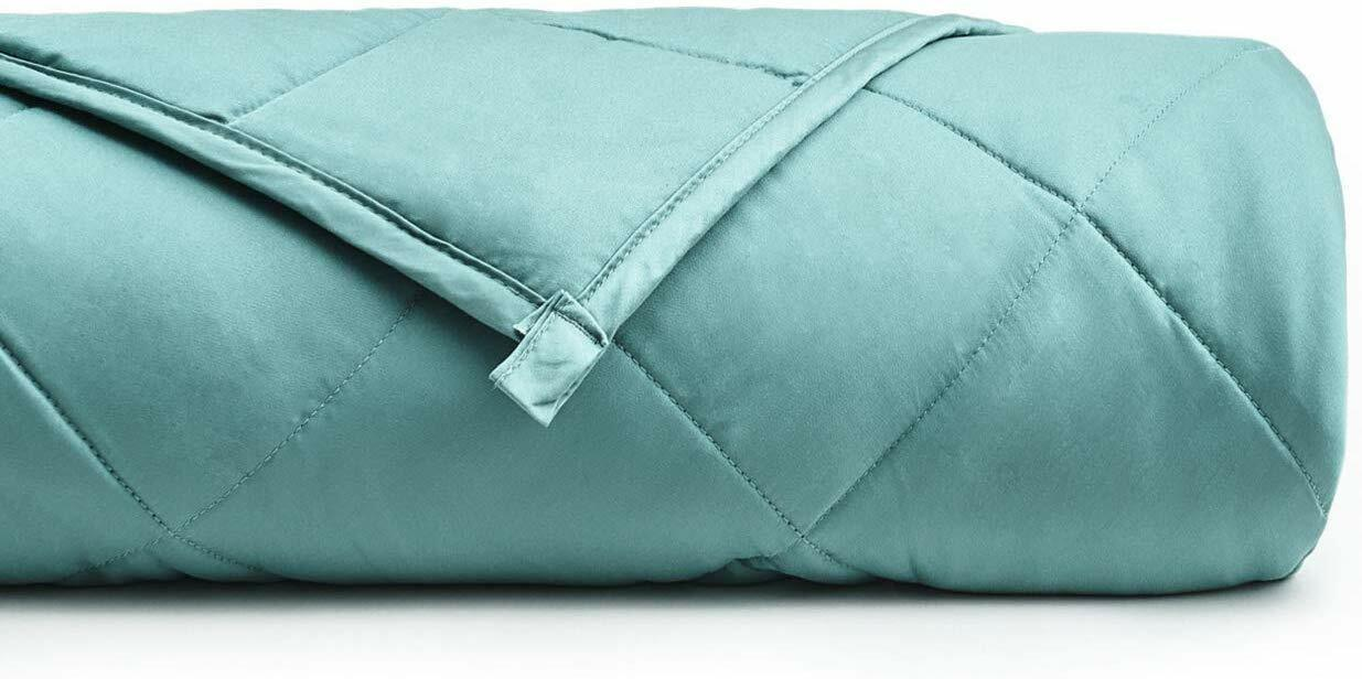 YnM Cooling Weighted Blanket 100% Natural Bamboo Sea Glass