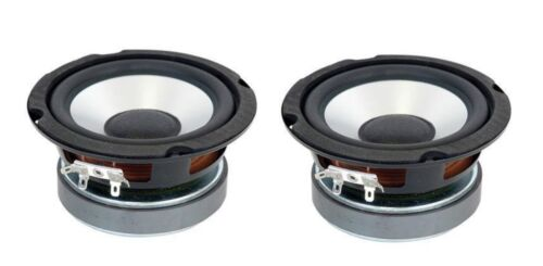 "NEW Pair (2) 5"" inch Heavy Duty Aluminum Cone Woofer Sub High Performance 8 Ohm"