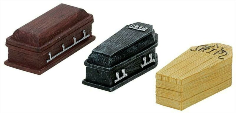 Spooky Town Cemetery Coffin Set of 3 by Lemax Halloween