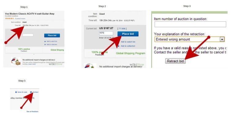 How to cancel a bid! | eBay