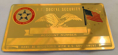 Fraternal Order Police US Social Security Metal Card Tag NOS VTG Perma Products​