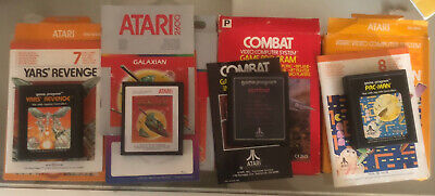 Atari 2600 Vintage Games Bundle Boxes Complete With Manuals PAC-man,Yars Revenge