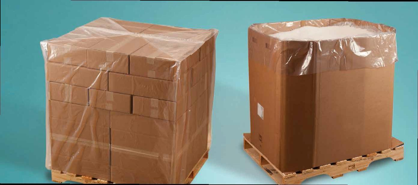 4 mil Pallet Covers Bin Box Gaylord Liners 32x28x72 Clear Roll//55 122926