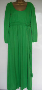 VINTAGE-1970s-FRANK-USHER-ENGLAND-GREEN-MEDIEVAL-STYLE-MAXI-DRESS-UK-SIZE-14