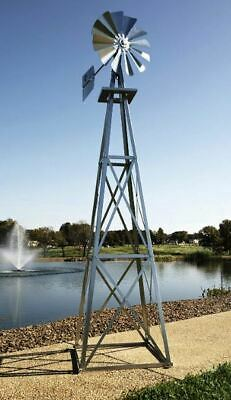 Ornamental Windmill Lawn Ornament Spinner Tower Metal Fan Yard Large -