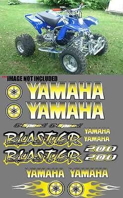 Yamaha Blaster Yellow Airbrush Style 16Pc Quad Atv Decals Graphics Stickers 200