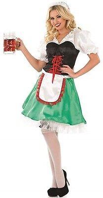 Damen Oktoberfest Bayrisch Bier Mädchen Kostüm Kleid Outfit 8-22 - Grüne Bier Mädchen Kostüm
