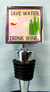 "Bottle Stopper ""Save Water Drink Wine"" Bar Accessory"