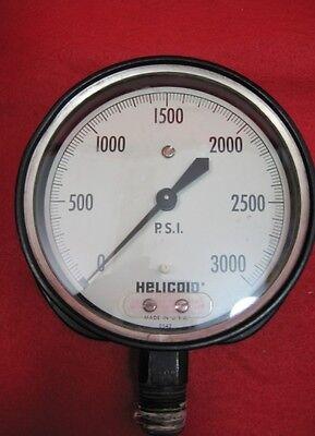 Vintage Acco Helicoid Pressure Gauge Steampunk  0-3000 2542