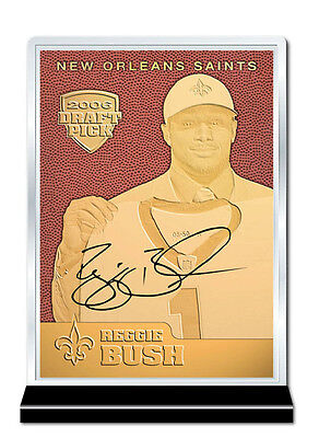 Reggie Bush Draft (2006 Draft Pick REGGIE BUSH NFL Feel The Game 23K GOLD ROOKIE Card)