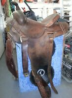 CUSTOM MADE - Western Rough Out SADDLE 15 inch