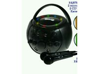 Portable Karaoke Machine & CD Player - Family PARTY PACK 2