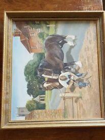 J Hardy. Blacksmith and horses