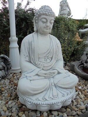 Buddha ca 58 cm Hoch, Steinguss für Koi Teich, Gartenfigur, Statue, Frostsicher